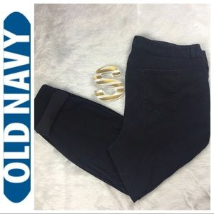 Old Navy Women Black Mid Rise Skinny Jeans Size 24